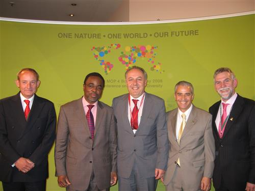 COP 9 - Rio Conventions with senior German officials © CBD