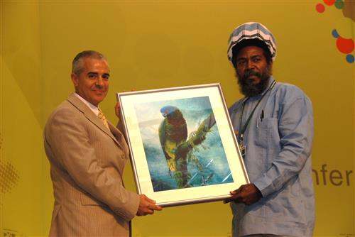 Saint Lucia donates to the CBD Museum of Nature and Culture © CBD