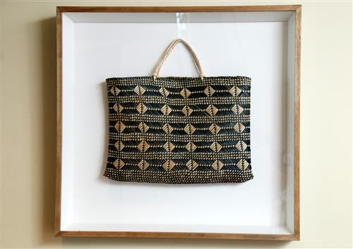 Framed woven-basket from New Zealand Secretariat of the Convention on Biological Diversity
