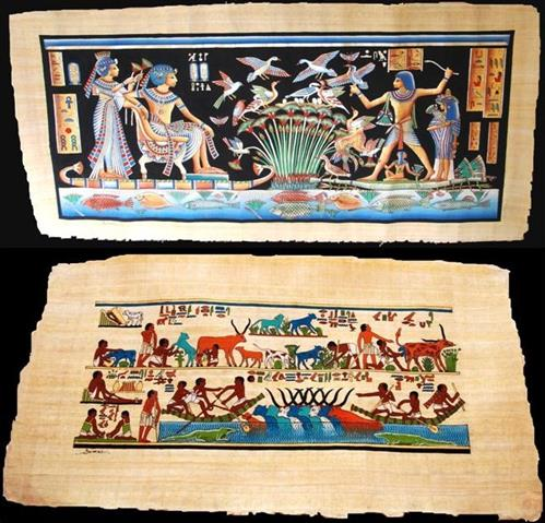 Egyptologist donates papyrus scrolls to the CBD Museum of Nature and Culture Secretariat of the Convention on Biological Diversity