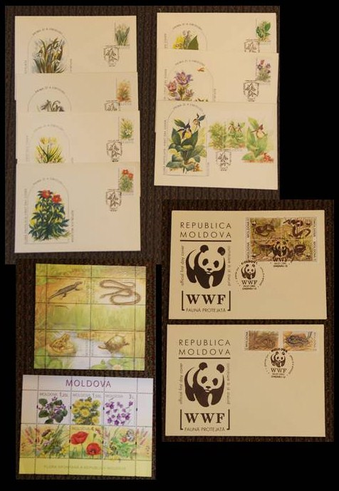 Special edition postage stamps from the Ministry of Environment of the Republic of Moldova Secretariat of the Convention on Biological Diversity