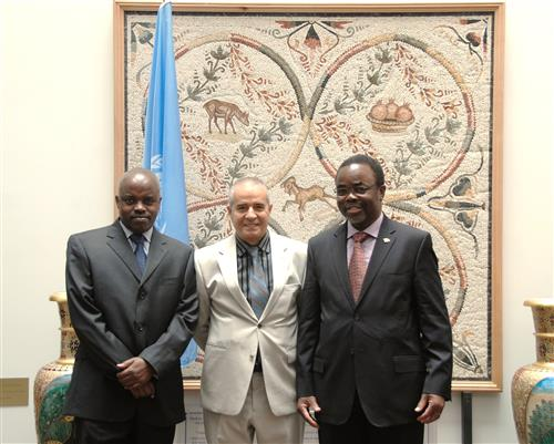 Visit of Luc Gnacadja, UNCCD Executive Secretary, and Melchiade Bukuru, Head of the UNCDD Liaison Office in New York Secretariat of the Convention on Biological Diversity