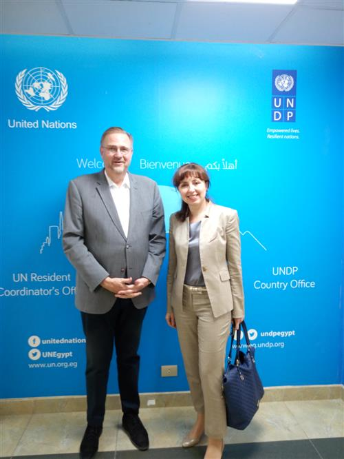 Meeting with UNDP Regional Coordinator and Resident Representative in Egypt Secretariat of the Convention on Biological Diversity/Ailis Rego
