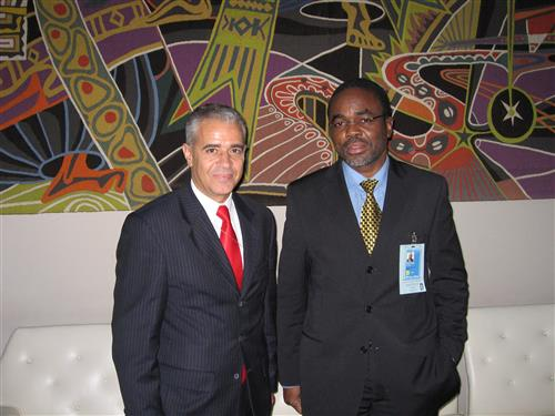 Ahmed Djoghlaf with Luc Gnacadja, UNCCD Executive Secretary ©CBD