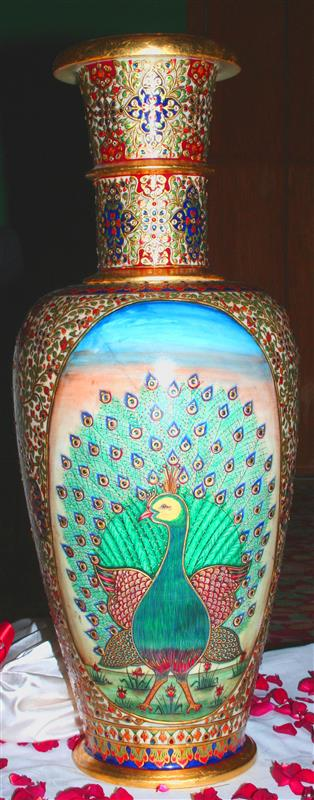 Peacock vases from the Government of India Secretariat of the Convention on Biological Diversity