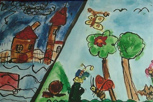 Child's drawing on biodiversity from Czech Republic Secretariat of the Convention on Biological Diversity