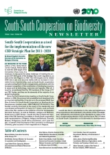 South-South Cooperation on Biodiversity Newsletter Vol. 1 Issue 1 October 2010