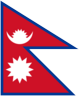 Country flag of Nepal
