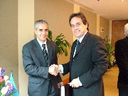 Ahmed Djoghlaf with Mr. Gilles Vincent, Director of the Montréal Botanical Garden