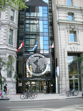 Entrance to the Secretariat building