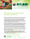Biodiversity for Development and Eradication of Poverty
